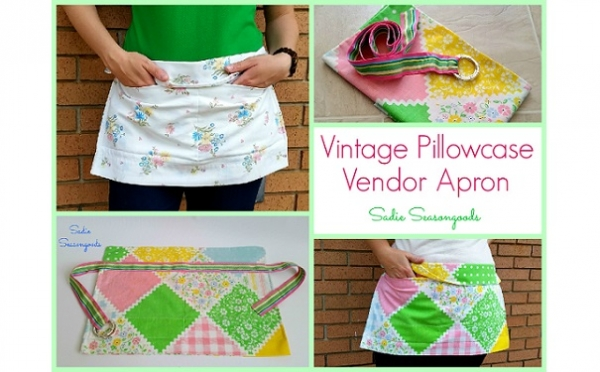 Tutorial: Vintage pillowcase vendor apron