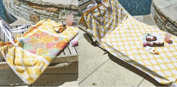 Tutorial: Convertible beach towel tote