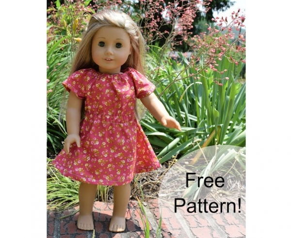 Free pattern: Peasant dress for a doll