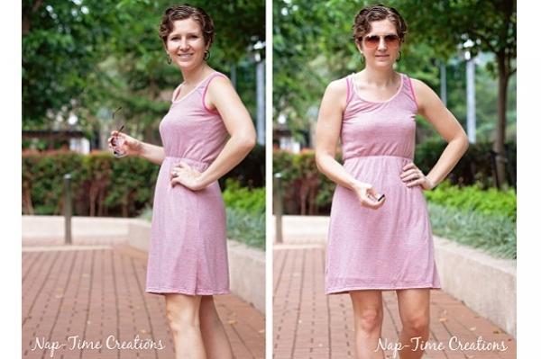 Free pattern: Women's simple summer tank dress