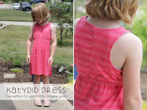 Free pattern: Katydid dress for girls