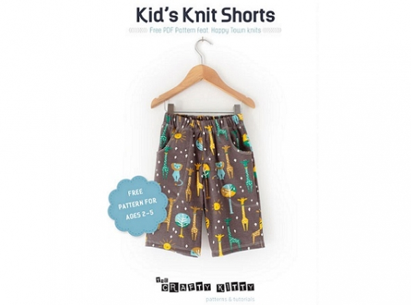 Free pattern: Knit shorts for boys or girls