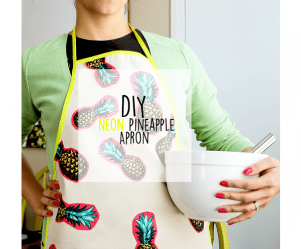 Tutorial: Neon pineapple apron
