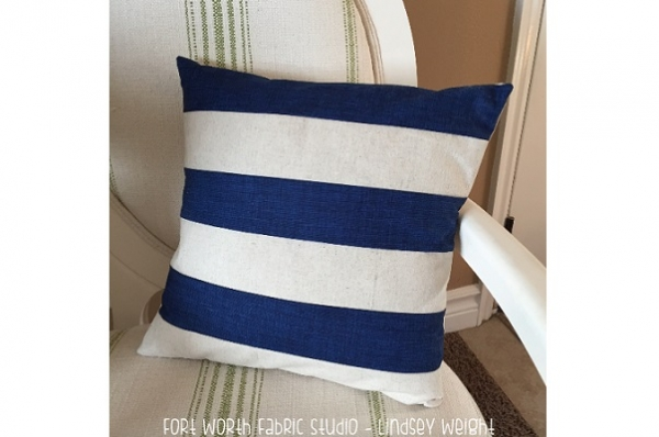 Tutorial: Pieced stripe pillow cover