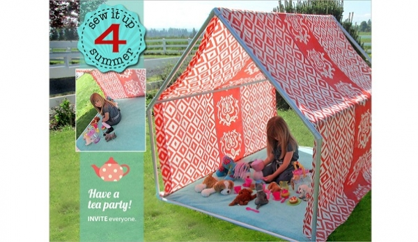 Tutorial: How to make a summer playhouse or lounge tent