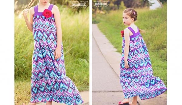 Tutorial: Girls' Bohemian Breeze Maxi Dress