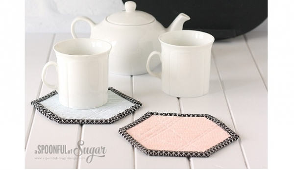 Tutorial: Quilted hexagon coasters