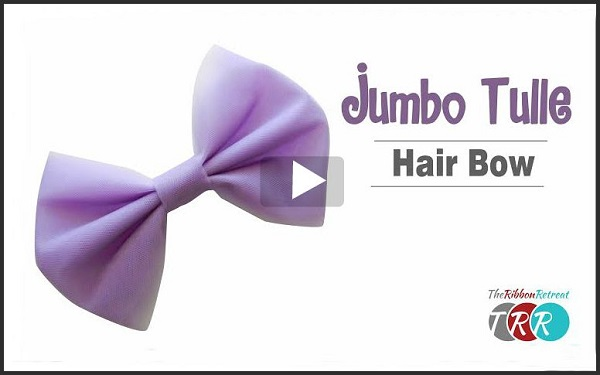 Video tutorial: How to make a jumbo tulle bow