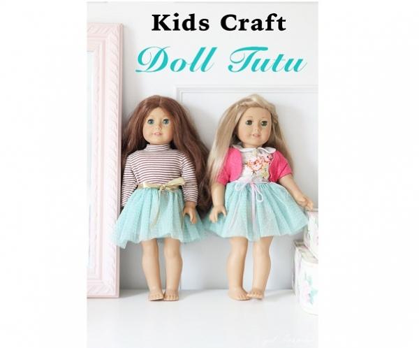 Tutorial: Doll tutu that kids can make