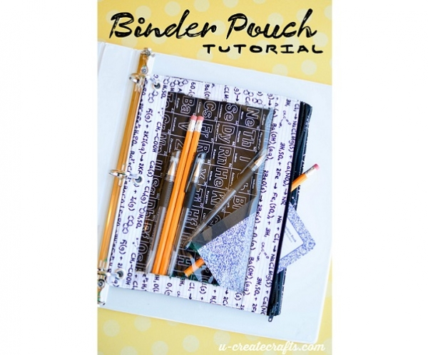 Tutorial: Binder pencil pouch