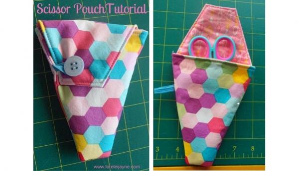 Free pattern: Scissors storage pouch