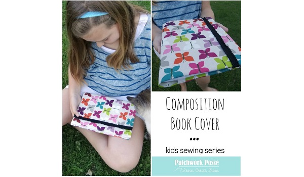 Book Cover Sewing Supplies ~ Tutorial fabric composition book cover sewing