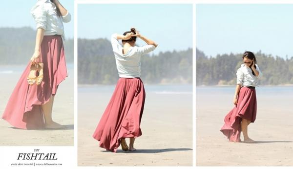 Tutorial: Easy fishtail circle skirt