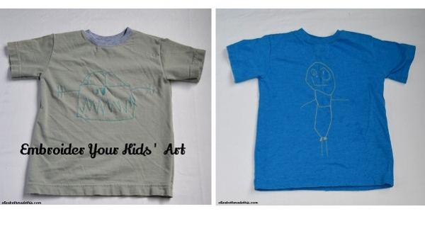 Tutorial: Stitch your child's drawings on to a t-shirt