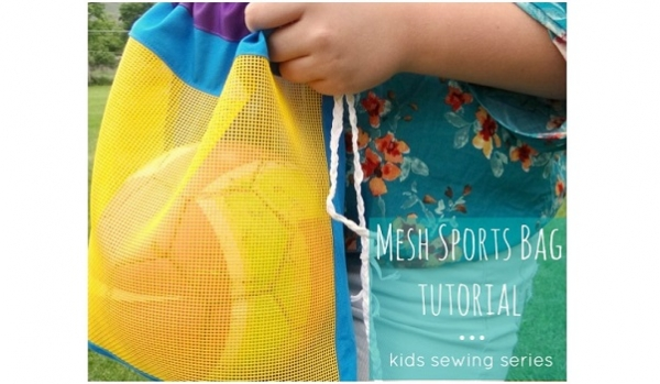 Tutorial: Kids mesh sports ball cinch bag