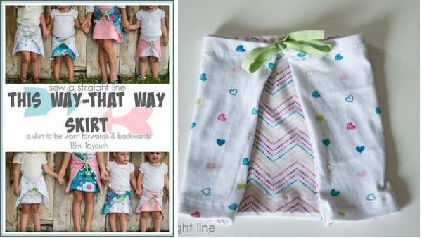 Tutorial: This Way - That Way Skirt for little girls