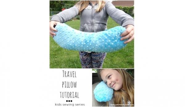 Tutorial Kids Travel Pillow Sewing