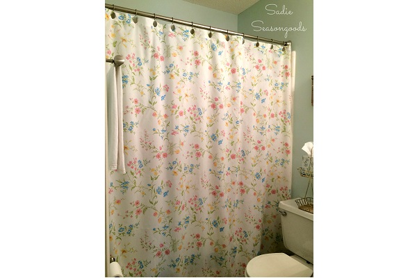 Tutorial Make A Shower Curtain From A Vintage Sheet Sewing