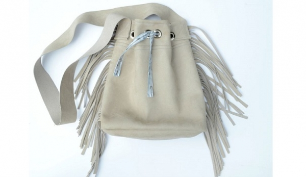 Tutorial: Fringed leather bag