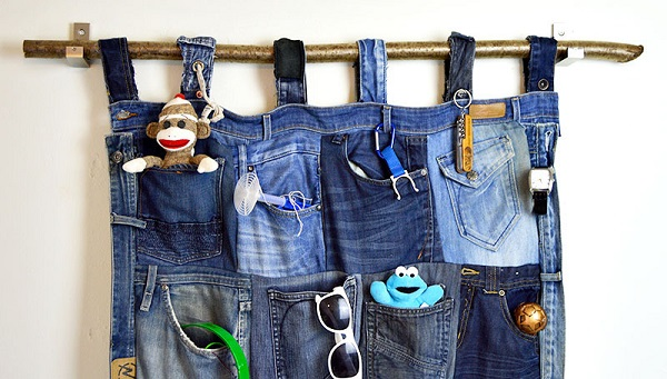 Tutorial: Recycled jeans pocket organizer