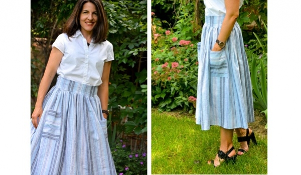 Tutorial: Midi skirt with patch pockets