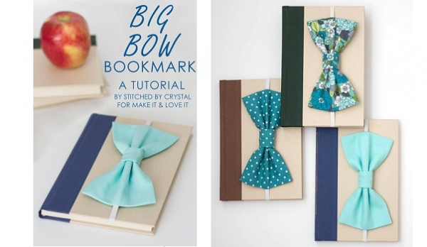 Tutorial: Big bow bookmark