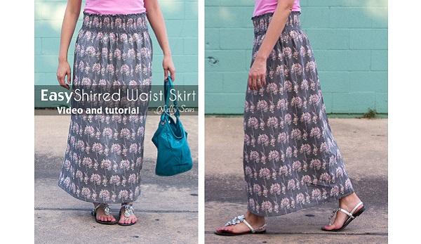Tutorial: Easy shirred waist skirt