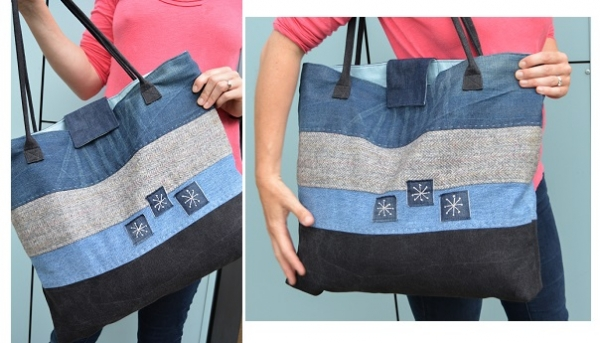 Tutorial: Upcycled denim tote