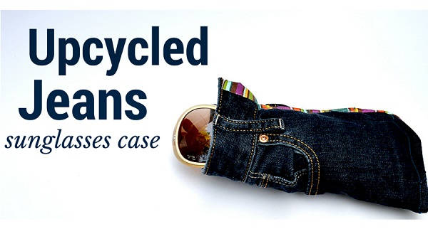 Tutorial: Recycled jeans sunglasses case