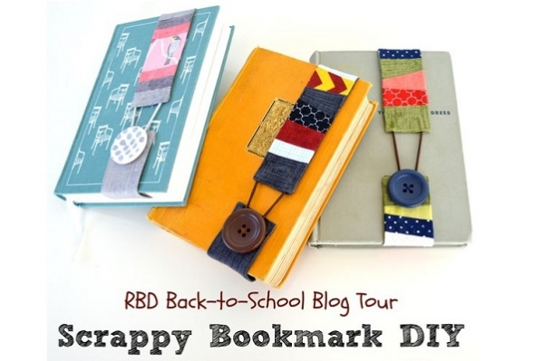 Tutorial: Scrappy button bookmark