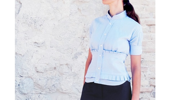 Tutorial: Corset blouse button up shirt refashion