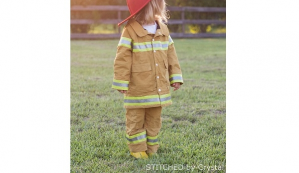 Tutorial: Kids fireman coat for dress-up or Halloween