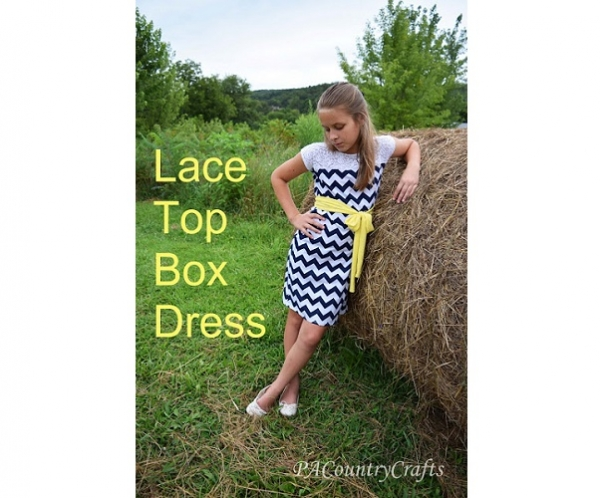 Tutorial: Lace top box dress for girls and tweens