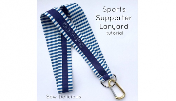 Tutorial: Sports fan or school spirit lanyard