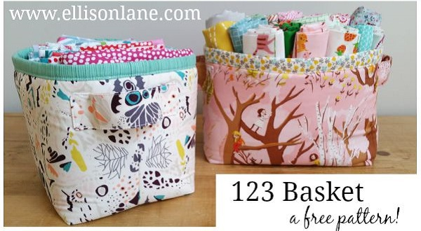 Free pattern: 123 fabric basket