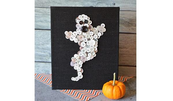 Tutorial: Halloween ghost button art