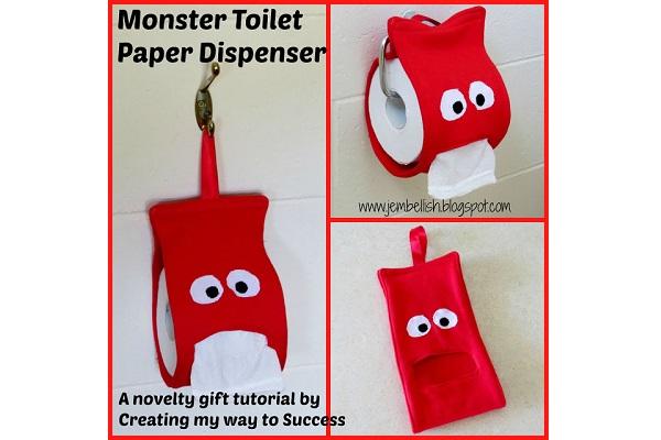 Tutorial: Monster toilet paper dispenser