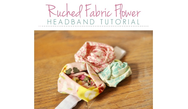 Tutorial: Ruched fabric flower headband