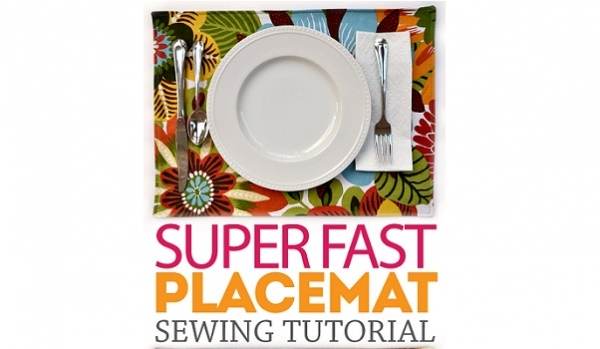 Tutorial: Super simple placemats