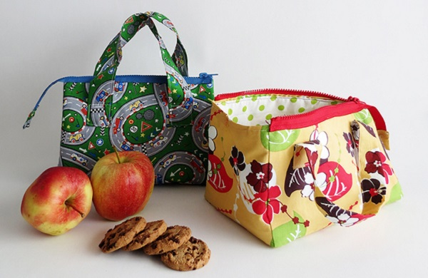 Tutorial: Wide mouth zip top lunch bag