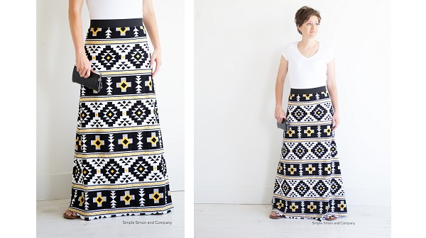 Free pattern: Simple Maxi Skirt
