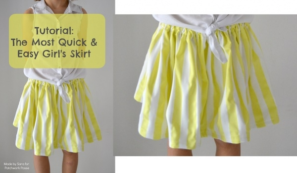 Tutorial: The Most Quick and Easy Girls Skirt