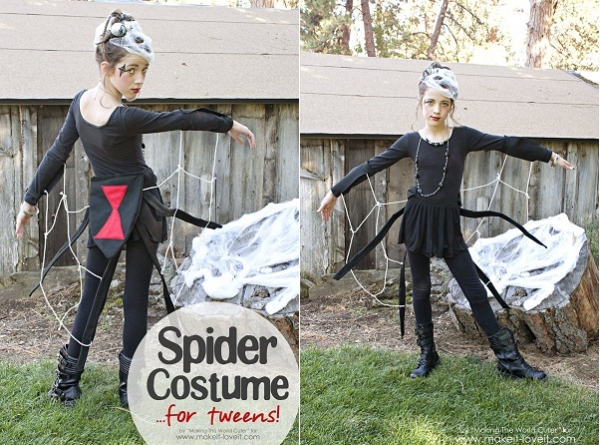 Tutorial: Spider Halloween costume for a tween