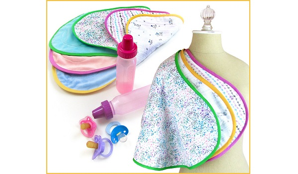 Free pattern: Ergonomic burp cloths