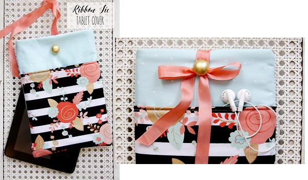 Tutorial: Ribbon tie tablet case