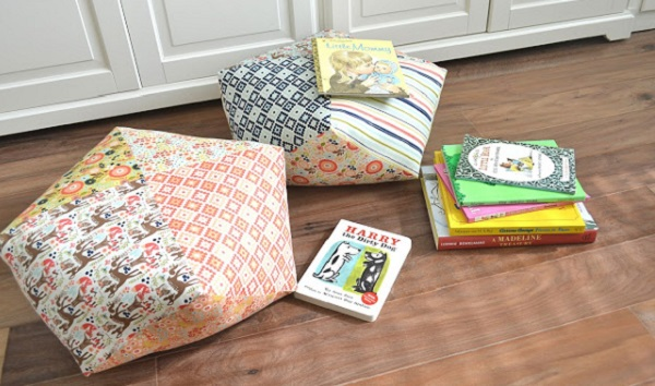 Floor Pillows Pattern Sewing : Tutorial: Patchwork floor pillows from pre-cut fabric squares ? Sewing