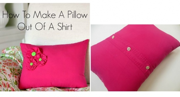 Tutorial: Super easy pillow cover from a repurposed shirt
