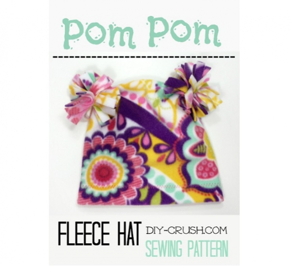 Tutorial pom pom fleece hat for kids sewing for Pom pom craft patterns