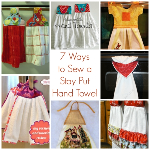 ways to sew a stay put hand towel sewing