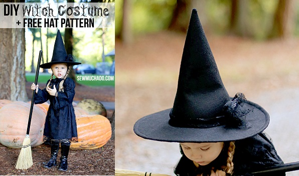 Free pattern: Little girl's witch hat